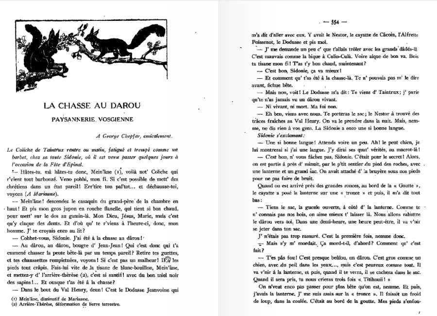 la chasse au darou 1 in le pays lorrain 1930