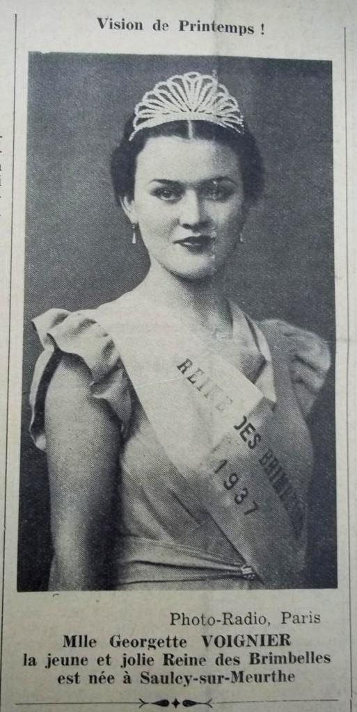 reine des brimbelles mai 1937